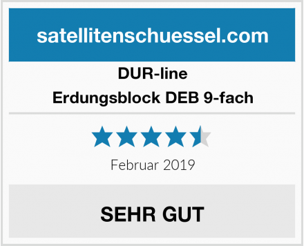 DUR-line Erdungsblock DEB 9-fach Test