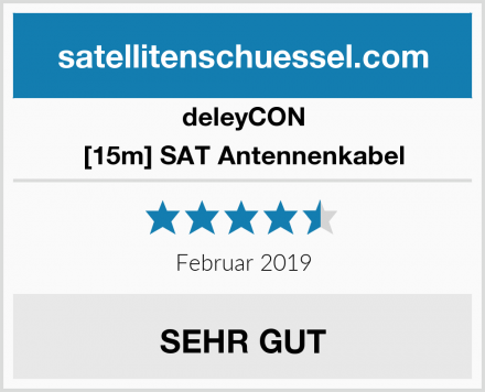deleyCON [15m] SAT Antennenkabel Test