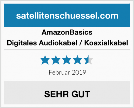 AmazonBasics Digitales Audiokabel / Koaxialkabel Test
