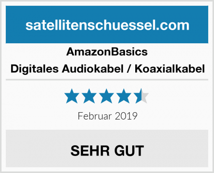 AmazonBasics Digitales Audiokabel / Koaxialkabel Test