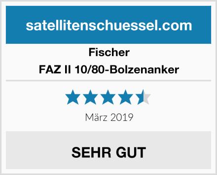 Fischer FAZ II 10/80-Bolzenanker Test