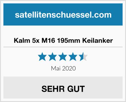 Kalm 5x M16 195mm Keilanker Test