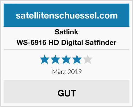 Satlink WS-6916 HD Digital Satfinder Test
