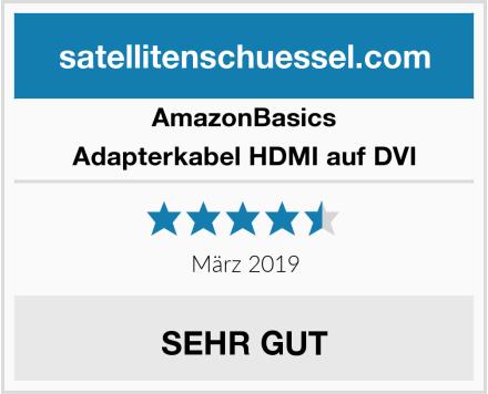 AmazonBasics Adapterkabel HDMI auf DVI Test