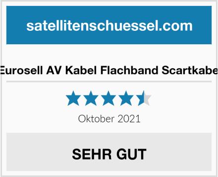 Eurosell AV Kabel Flachband Scartkabel Test
