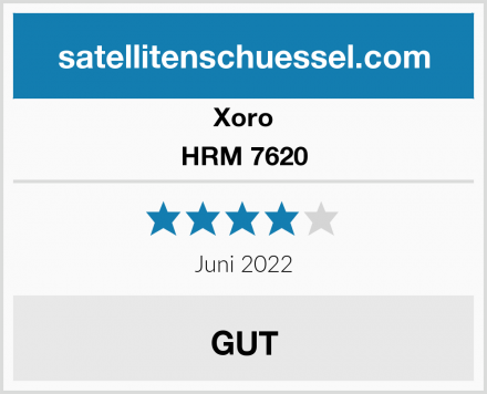 Xoro HRM 7620 Test