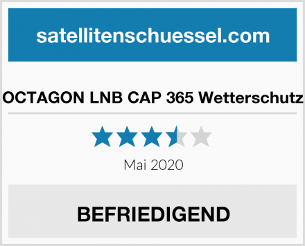 OCTAGON LNB CAP 365 Wetterschutz Test
