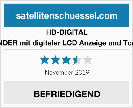 HB-DIGITAL SATFINDER mit digitaler LCD Anzeige und Tonsignal Test