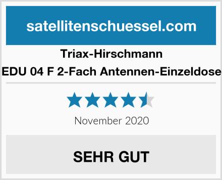 Triax-Hirschmann EDU 04 F 2-Fach Antennen-Einzeldose Test