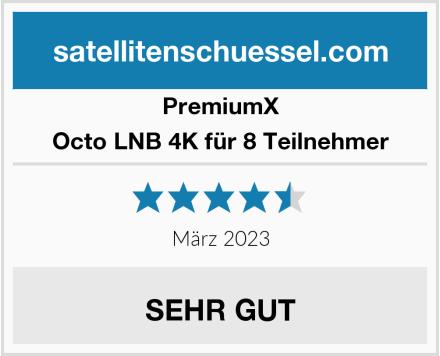 Premiumx Octo LNB 4K für 8 Teilnehmer Test