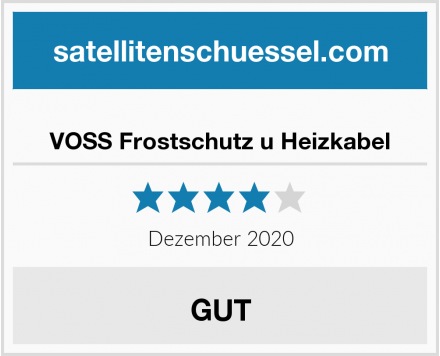 VOSS Frostschutz u Heizkabel Test