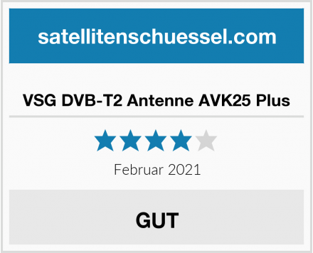 VSG DVB-T2 Antenne AVK25 Plus Test