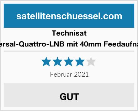 Technisat Universal-Quattro-LNB mit 40mm Feedaufnahme Test
