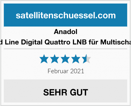 Anadol Gold Line Digital Quattro LNB für Multischalter Test