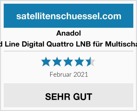 Anadol Gold Line Digital Quattro LNB für Multischalter Test