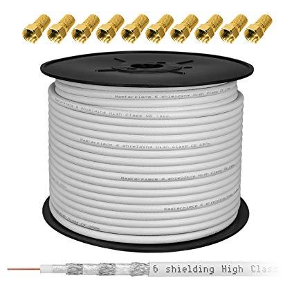 HB-DIGITAL  100m Koaxial Sat Kabel