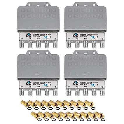 HB-DIGITAL  4X DiseqC Schalter Switch 4/1 mit Wetterschutzgehäuse