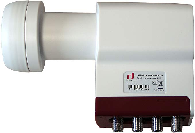 Inverto Red Extend Quad LNB (0,3dB, 40mm)
