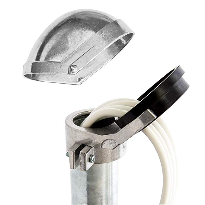 No Name PremiumX SAT Aluminium Mastkappe mit Kabeldurchführung