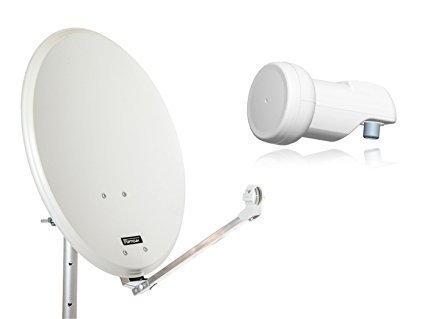 Opticum Stahl QA60 Satellitenantenne mit Single-LNB