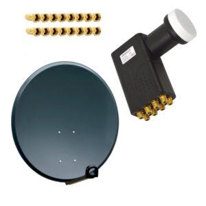 Satellitenschüsseln für 8 Teilnehmer