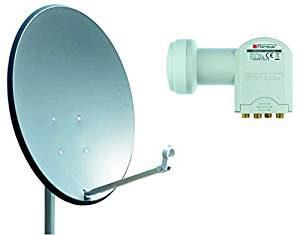 Satellitenschüsseln mit LNB