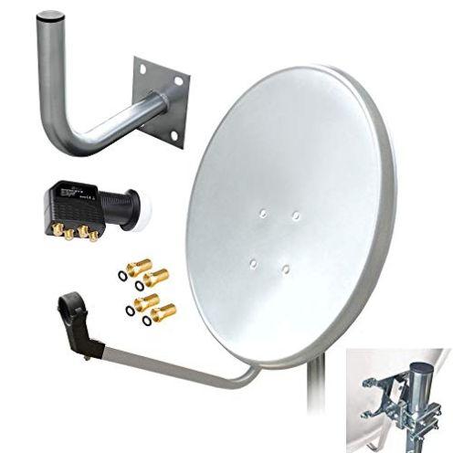 ARLI HD Sat Anlage Quad LNB Antenne + Wandhalter