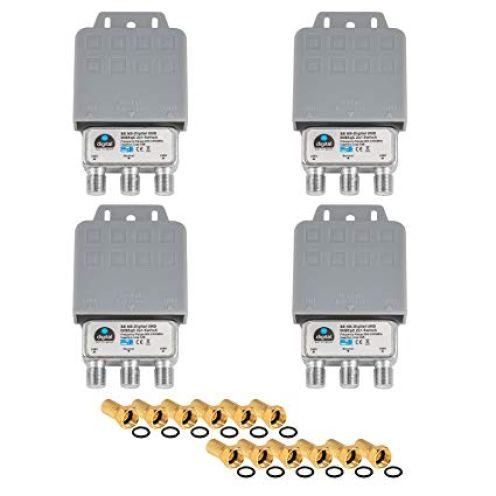 HB-DIGITAL 4x DiseqC Schalter Switch 2/1 mit Wetterschutzgehäuse