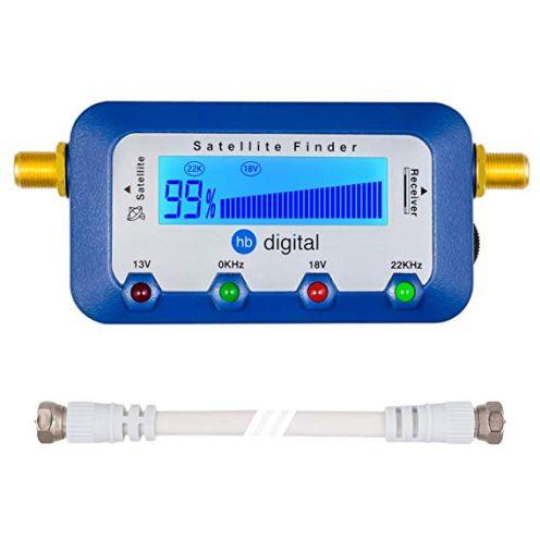 HB-DIGITAL SATFINDER mit digitaler LCD Anzeige und Tonsignal
