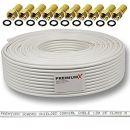 Premiumx 135dB 50m Koaxial SAT Kabel